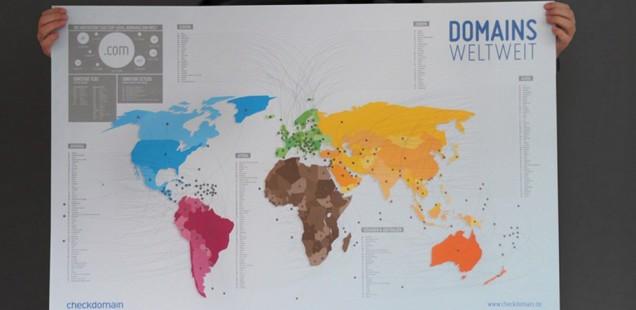 Bloggen für den guten Zweck - Domain-Weltkarte kostenlos erhalten